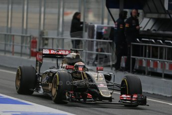 World © Octane Photographic Ltd. Lotus F1 Team E23 Hybrid – Pastor Maldonado. Sunday 1st March 2015, F1 Winter test #3, Circuit de Barcelona-Catalunya, Spain Test 2 Day 4. Digital Ref : 1195LB1D3455