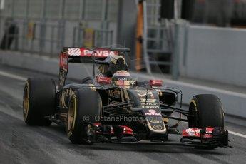 World © Octane Photographic Ltd. Lotus F1 Team E23 Hybrid – Pastor Maldonado. Sunday 1st March 2015, F1 Winter test #3, Circuit de Barcelona-Catalunya, Spain Test 2 Day 4. Digital Ref : 1195LB1D3591