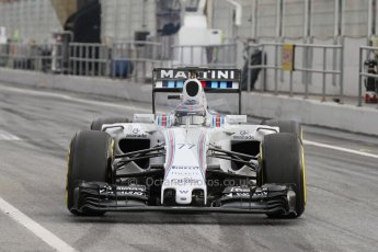 World © Octane Photographic Ltd. Williams Martini Racing FW37 – Valtteri Bottas. Sunday 1st March 2015, F1 Winter test #3, Circuit de Barcelona-Catalunya, Spain Test 2 Day 4. Digital Ref: 1195LB7L6890