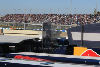 World © Octane Photographic Ltd. Fans in the grandstand viewed over the paddock. Sunday 1st February 2015, Formula 1 Winter testing, Jerez de la Frontera, Spain. Digital Ref: 1180CB1D1358
