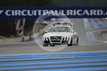 World © Octane Photographic Ltd. Pirelli wet tyre test, Paul Ricard, France. Monday 25th January 2016. Pirelli checking the track after the Deluge system was on. Digital Ref: 1498CB1D8334