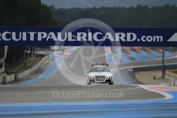 World © Octane Photographic Ltd. Pirelli wet tyre test, Paul Ricard, France. Monday 25th January 2016. Pirelli checking the track after the Deluge system was on. Digital Ref: 1498CB1D8343