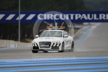 World © Octane Photographic Ltd. Pirelli wet tyre test, Paul Ricard, France. Monday 25th January 2016. Pirelli checking the track after the Deluge system was on. Digital Ref: 1498CB1D8351