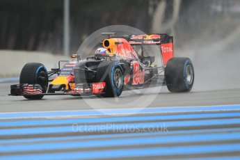 World © Octane Photographic Ltd. Pirelli wet tyre test, Paul Ricard, France. Monday 25th January 2016. Red Bull Racing RB11 – Daniel Ricciardo. Digital Ref: