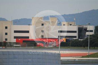 World © Octane Photographic Ltd. Pirelli wet tyre test, Paul Ricard, France. Monday 25th January 2016. Paddock view from circuit. Digital Ref: 1498CB1D8448