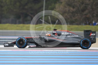 World © Octane Photographic Ltd. Pirelli wet tyre test, Paul Ricard, France. Monday 25th January 2016. McLaren Honda MP4/30 – Stoffel Vandoorne. Digital Ref: 1498CB1D8517