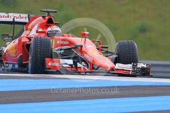 World © Octane Photographic Ltd. Pirelli wet tyre test, Paul Ricard, France. Monday 25th January 2016. Ferrari SF15-T – Kimi Raikkonen. Digital Ref: 1498CB1D8834