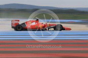 World © Octane Photographic Ltd. Pirelli wet tyre test, Paul Ricard, France. Monday 25th January 2016. Ferrari SF15-T – Kimi Raikkonen. Digital Ref: 1498CB1D8976