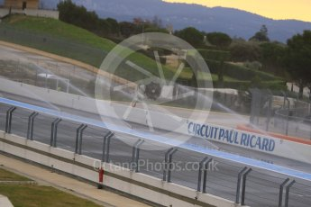 World © Octane Photographic Ltd. Pirelli wet tyre test, Paul Ricard, France. Monday 25th January 2016. The deluge system soaking the track prior to the session start. Digital Ref : 1498CB7D5079