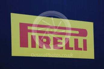 World © Octane Photographic Ltd. Pirelli wet tyre test, Paul Ricard, France. Monday 25th January 2016. Pirelli logo. Digital Ref: 1498CB7D5100