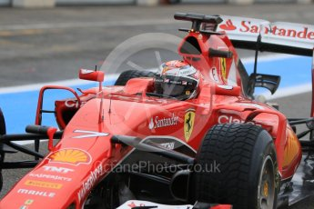World © Octane Photographic Ltd. Pirelli wet tyre test, Paul Ricard, France. Monday 25th January 2016. Ferrari SF15-T – Kimi Raikkonen. Digital Ref: 1498CB7D5237