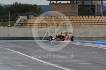 World © Octane Photographic Ltd. Pirelli wet tyre test, Paul Ricard, France. Monday 25th January 2016. Red Bull Racing RB11 – Daniel Ricciardo recovering from a spin. Digital Ref: 1498CB7D5292