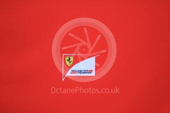 World © Octane Photographic Ltd. Pirelli wet tyre test, Paul Ricard, France. Monday 25th January 2016. Scuderia Ferrari logo. Digital Ref: 1498CB7D5327