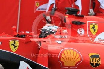 World © Octane Photographic Ltd. Pirelli wet tyre test, Paul Ricard, France. Monday 25th January 2016. Ferrari SF15-T – Kimi Raikkonen. Digital Ref: 1498CB7D5331