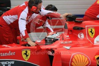 World © Octane Photographic Ltd. Pirelli wet tyre test, Paul Ricard, France. Monday 25th January 2016. Ferrari SF15-T – Kimi Raikkonen. Digital Ref: 1498CB7D5354