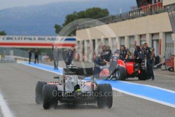 World © Octane Photographic Ltd. Pirelli wet tyre test, Paul Ricard, France. Monday 25th January 2016. McLaren Honda MP4/30 – Stoffel Vandoorne and Red Bull Racing RB11 – Daniel Ricciardo. Digital Ref: 1498CB7D5387