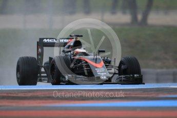 World © Octane Photographic Ltd. Pirelli wet tyre test, Paul Ricard, France. Monday 25th January 2016. McLaren Honda MP4/30 – Stoffel Vandoorne. Digital Ref: 1498CB1D9077
