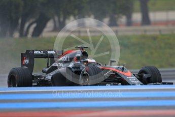World © Octane Photographic Ltd. Pirelli wet tyre test, Paul Ricard, France. Monday 25th January 2016. McLaren Honda MP4/30 – Stoffel Vandoorne. Digital Ref: 1498CB7D5703