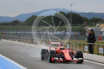 World © Octane Photographic Ltd. Pirelli wet tyre test, Paul Ricard, France. Monday 25th January 2016. Ferrari SF15-T – Kimi Raikkonen. Digital Ref: 1498LB1D5431