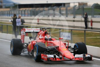 World © Octane Photographic Ltd. Pirelli wet tyre test, Paul Ricard, France. Monday 25th January 2016. Ferrari SF15-T – Kimi Raikkonen. Digital Ref: 1498LB1D5436