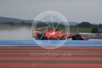 World © Octane Photographic Ltd. Pirelli wet tyre test, Paul Ricard, France. Monday 25th January 2016. Ferrari SF15-T – Kimi Raikkonen. Digital Ref: 1498LB1D5591