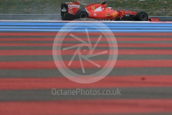 World © Octane Photographic Ltd. Pirelli wet tyre test, Paul Ricard, France. Monday 25th January 2016. Ferrari SF15-T – Kimi Raikkonen. Digital Ref: 1498LB1D5645