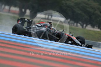 World © Octane Photographic Ltd. Pirelli wet tyre test, Paul Ricard, France. Monday 25th January 2016. McLaren Honda MP4/30 – Stoffel Vandoorne. Digital Ref: 1498LB1D5798