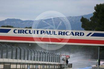 World © Octane Photographic Ltd. Pirelli wet tyre test, Paul Ricard, France. Monday 25th January 2016. Paul Ricard logo. Digital Ref: 1498LB5D5197