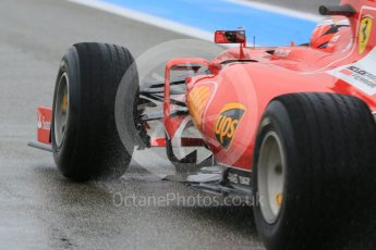 World © Octane Photographic Ltd. Pirelli wet tyre test, Paul Ricard, France. Monday 25th January 2016. Ferrari SF15-T – Kimi Raikkonen. Digital Ref: 1498LB5D5235