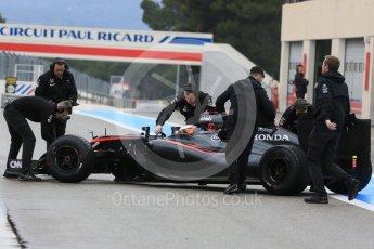 World © Octane Photographic Ltd. Pirelli wet tyre test, Paul Ricard, France. Monday 25th January 2016. McLaren Honda MP4/30 – Stoffel Vandoorne. Digital Ref: 1498LB5D5259