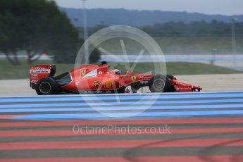 World © Octane Photographic Ltd. Pirelli wet tyre test, Paul Ricard, France. Monday 25th January 2016. Ferrari SF15-T – Kimi Raikkonen. Digital Ref: 1498LB5D5315