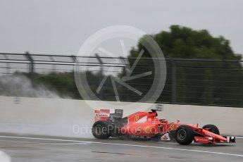 World © Octane Photographic Ltd. Pirelli wet tyre test, Paul Ricard, France. Monday 25th January 2016. Ferrari SF15-T – Kimi Raikkonen. Digital Ref: 1498LB5D5383