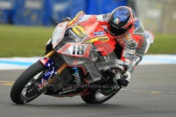 © Octane Photographic Ltd. 2012 World Superbike Championship – European GP – Donington Park. Friday 11th May 2012. WSBK Friday Qualifying practice. Mark Aitchison - BMW S1000RR. Digital Ref : 0330cb1d3042