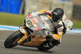 © Octane Photographic Ltd. 2012 World Superbike Championship – European GP – Donington Park. Friday 11th May 2012. WSBK Friday Qualifying practice. Maxime Berger - Ducati 1098R. Digital Ref : 0330cb1d3051