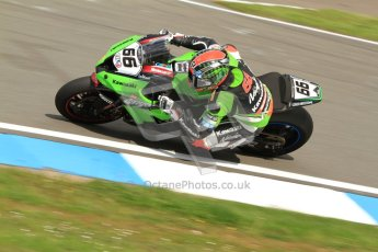 © Octane Photographic Ltd. 2012 World Superbike Championship – European GP – Donington Park. Friday 11th May 2012. WSBK Friday Qualifying practice. Tom Sykes - Kawasaki ZX-10R. Digital Ref : 0330cb7d1465