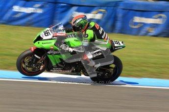 © Octane Photographic Ltd. 2012 World Superbike Championship – European GP – Donington Park. Friday 11th May 2012. WSBK Friday Qualifying practice. Tom Sykes - Kawasaki ZX-10R. Digital Ref : 0330cb7d1557