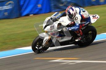 © Octane Photographic Ltd. 2012 World Superbike Championship – European GP – Donington Park. Friday 11th May 2012. WSBK Friday Qualifying practice. Leon Haslam - BMW S1000RR. Digital Ref : 0330cb7d1633
