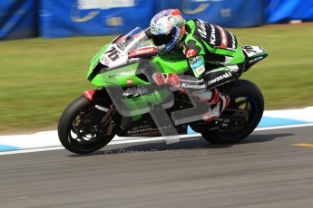 © Octane Photographic Ltd. 2012 World Superbike Championship – European GP – Donington Park. Friday 11th May 2012. WSBK Friday Qualifying practice. Loris Baz - Kawasaki ZX-10R. Digital Ref : 0330cb7d1638