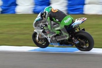 © Octane Photographic Ltd. 2012 World Superbike Championship – European GP – Donington Park. Friday 11th May 2012. WSBK Friday Qualifying practice. Peter Hickman - Suzuki GSX-R1000. Digital Ref : 0330cb7d1709