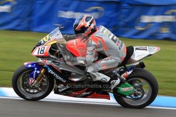 © Octane Photographic Ltd. 2012 World Superbike Championship – European GP – Donington Park. Friday 11th May 2012. WSBK Friday Qualifying practice. Mark Aitchison - BMW S1000RR. Digital Ref : 0330cb7d1873