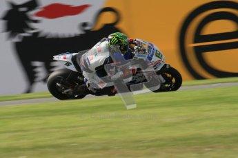 © Octane Photographic Ltd. 2012 World Superbike Championship – European GP – Donington Park. Friday 11th May 2012. WSBK Friday Qualifying practice. Chaz Davies - Aprillia RSV4 Factory. Digital Ref : 0330lw7d3965