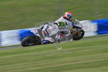 © Octane Photographic Ltd. 2012 World Superbike Championship – European GP – Donington Park. Friday 11th May 2012. WSBK Friday Qualifying practice. Chaz Davies - Aprillia RSV4 Factory. Digital Ref : 0330lw7d4123