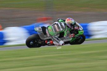© Octane Photographic Ltd. 2012 World Superbike Championship – European GP – Donington Park. Friday 11th May 2012. WSBK Friday Qualifying practice. Loris Baz - Kawasaki ZX-10R. Digital Ref : 0330lw7d4341