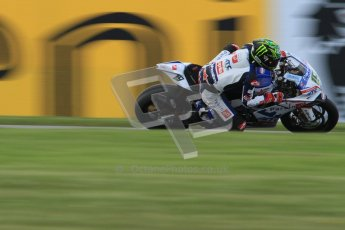 © Octane Photographic Ltd. 2012 World Superbike Championship – European GP – Donington Park. Friday 11th May 2012. WSBK Friday Qualifying practice. Chaz Davies - Aprillia RSV4 Factory. Digital Ref : 0330lw7d4418