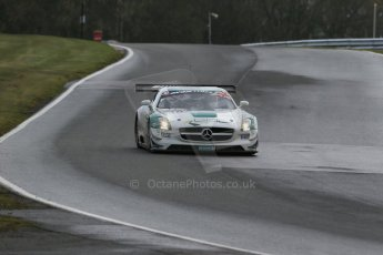 World © Octane Photographic Ltd. Avon Tyres British GT Championship Practice, Oulton Park, UK, Saturday 4th April 2015. Mercedes SLS AMG GT3 - Pro/Am, RAM Racing - Alistair MacKinnon and Lewis Plato. Digital Ref : 1215LB1D2210