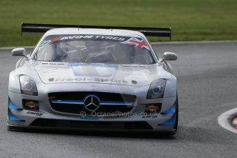 World © Octane Photographic Ltd. Avon Tyres British GT Championship Practice, Oulton Park, UK, Saturday 4th April 2015. Mercedes SLS AMG GT3 - Am/Am, Preci – Spark - David Jones and Godfrey Jones. Digital Ref :