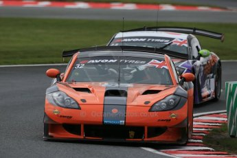 World © Octane Photographic Ltd. Avon Tyres British GT Championship Practice, Oulton Park, UK, Saturday 4th April 2015. Ginetta GT3 - Pro/Am, Team LNT – Steve Tandy and Mike Simpson followed by the sister car of Rick Parfitt and Tom Oliphant. Digital Ref :