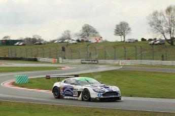 World © Octane Photographic Ltd. Avon Tyres British GT Championship Practice, Oulton Park, UK, Saturday 4th April 2015. Aston Martin Vantage GT3 - Pro/Am, Beechdean AMR – Andrew Howard and Jonny Adam. Digital Ref :