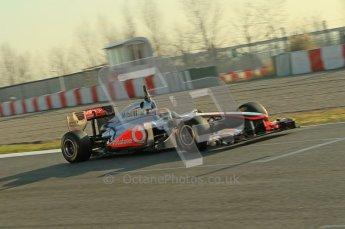World © Octane Photographic 2011. Formula 1 testing Monday 21st February 2011 Circuit de Catalunya. McLaren MP4/26 - Lewis Hamilton. Digital ref : 0012CB5D0276