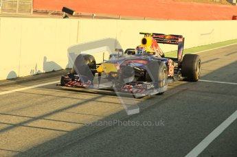 World © Octane Photographic 2011. Formula 1 testing Monday 21st February 2011 Circuit de Catalunya. Red Bull RB7 - Mark Webber. Digital ref : 0012CB1D2657
